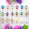 AB colors 7 Sizes Gold claw settings waterdrop teardrop glass Crystal Sew on rhinestone beads garment applique diy trim