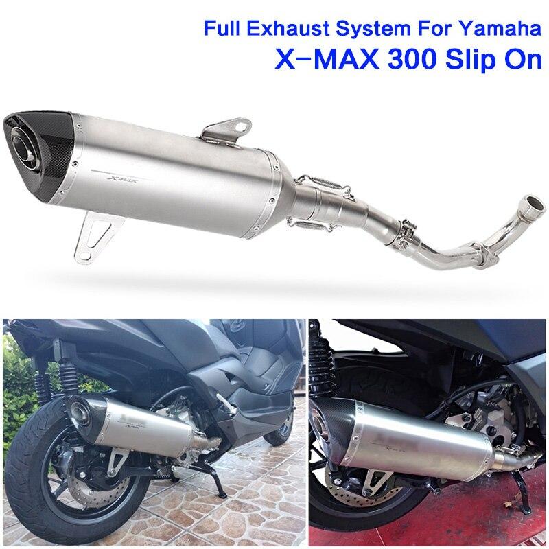 Xmax 300 250 Moto silencieux tuyau d'échappement système complet Akrapovic Escape Moto en acier inoxydable tuyau pour Yamaha XMAX 300 sans lacet