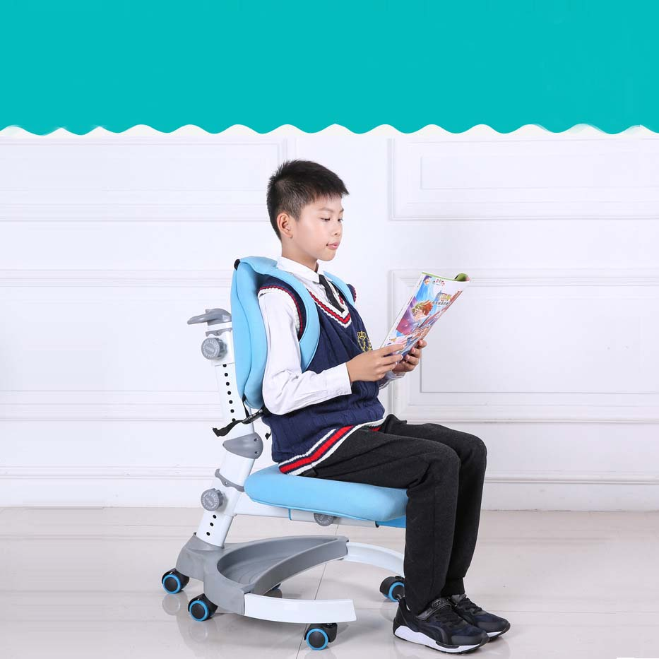 Kids chair table adjustable sitting position Luxury Version Comfortable student study chair Corrective posture