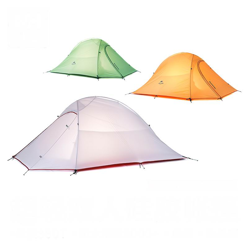 New 2 Person Silicone Coating Double Layer Waterproof PU4000 Tent Aluminum Rod Portable Mountain Single Tents Ultralight 1.5KG yingtouman outdoor 2 person waterproof double layer tent fiberglass rod portable ultralight camping hikingtents