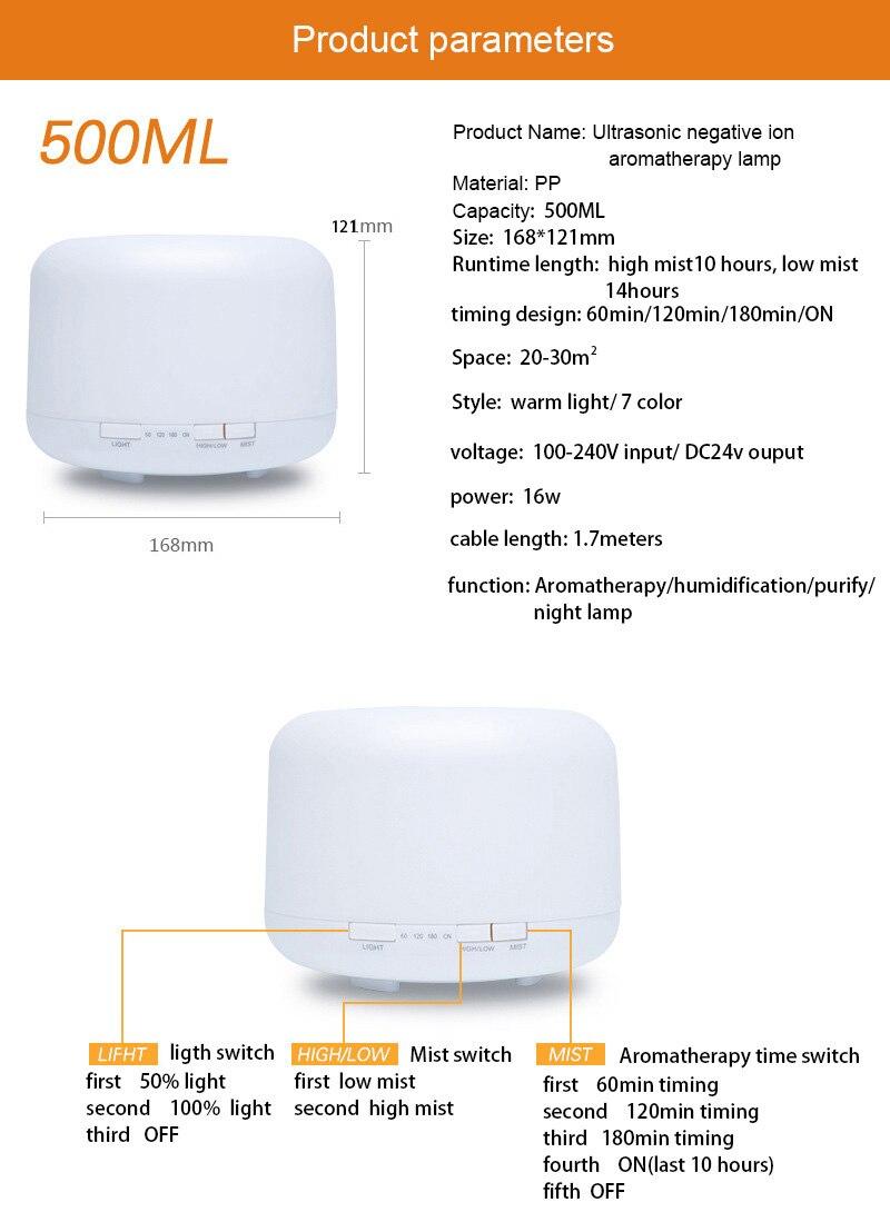 Aliexpress.com : Buy 500ml Cool Mist maker LED Night Light for Home ...