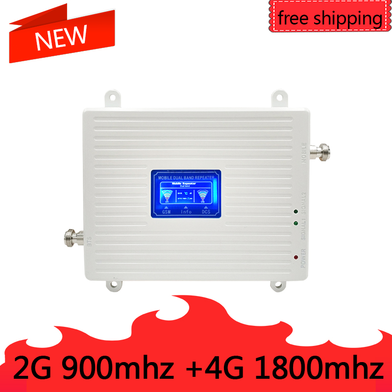 23dBm 70dB Gain GSM 900 LTE 1800 2G 4G Dual Band Mobile Signal Repeater GSM 4G LTE Cellular Booster Amplifier 2G 4G Antenna23dBm 70dB Gain GSM 900 LTE 1800 2G 4G Dual Band Mobile Signal Repeater GSM 4G LTE Cellular Booster Amplifier 2G 4G Antenna