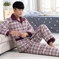 -25 Graus! venda quente macacão de inverno dos homens grossas de algodão acolchoado pijamas de manga longa para homens roupas de noite 3XL plus size pijama