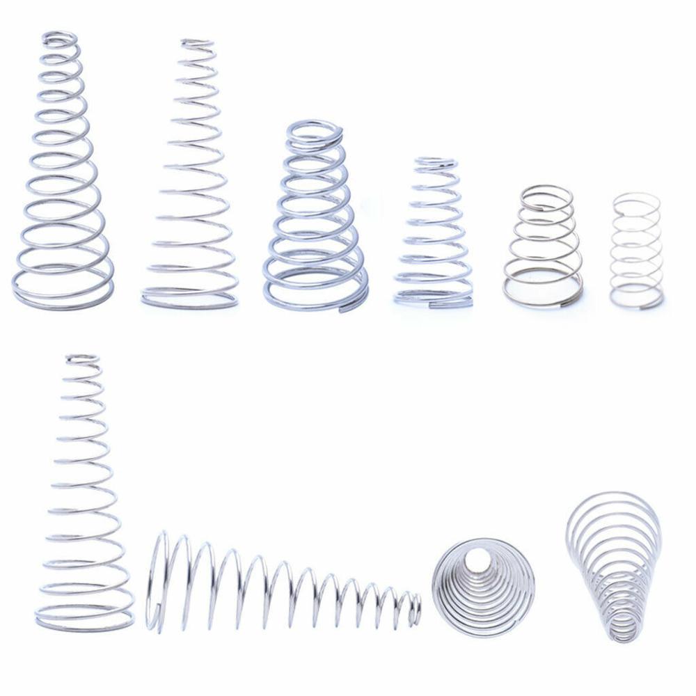 3 шт., пружины конического конуса из нержавеющей стали 304, пружины конического давления, диаметр проволоки 1,2-1,5 мм