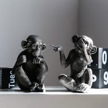 8a14a2dab Adornos de mono de personalidad Retro sala de estar gabinete de vino  creativo decoración de habitación de escritorio de animales pequeños muebles