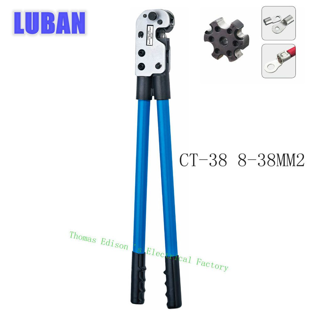 цена на CT-38 COPPER TUBE TERMINAL CRIMPING TOOL BS standard type terminals 8-38MM2 CRIMPING PILER crimping tools big size