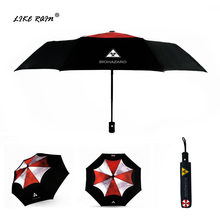 LIKE RAIN Creative Movie Resident Evil Umbrella Men Automatic Umbrellas Corporation Anime Women Biohazard Kids Umbrella UBY17(China)