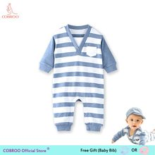 f4d6ab03ab0b Newborn Baby Boy Clothes Summer Rompers 0 12 Months Baby Clothes Stripe  Boys Shirts Baby Jumpsuit 1 Year Old 150079-in Rompers from Mother   Kids  on ...