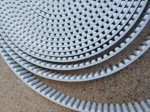 Image 2 - Ремень ГРМ HTD5M шириной 15, 20, 30 мм, цвет белый, полиуретан, со стальным сердечником, HTD, 5 м, с открытым концом, шаг 5 мм, шкив