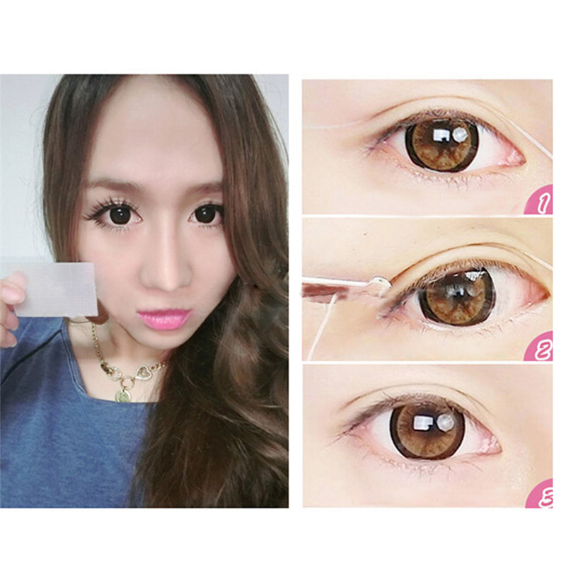12pairs Mesh Lace Invisible Double Eyelid Past Tape Eye Lift Strips Trial Stiker Eye Lid Cosmetic Makeup Beauty Eyelid Past Tool