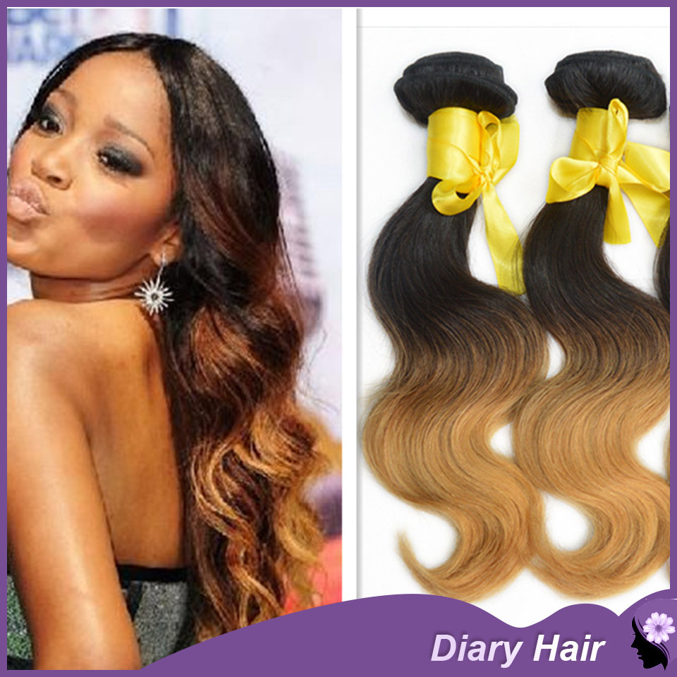Malaysian Ombre Virgin Hair Body Wave 6a Top Unprocessed Two Tone