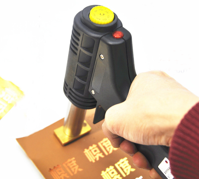 50b0bfd13f3bde Hand Leder Stanzen Maschine Holz Bronzing Maschine Heißer Folien-stempel-logo  Branding 500 Watt