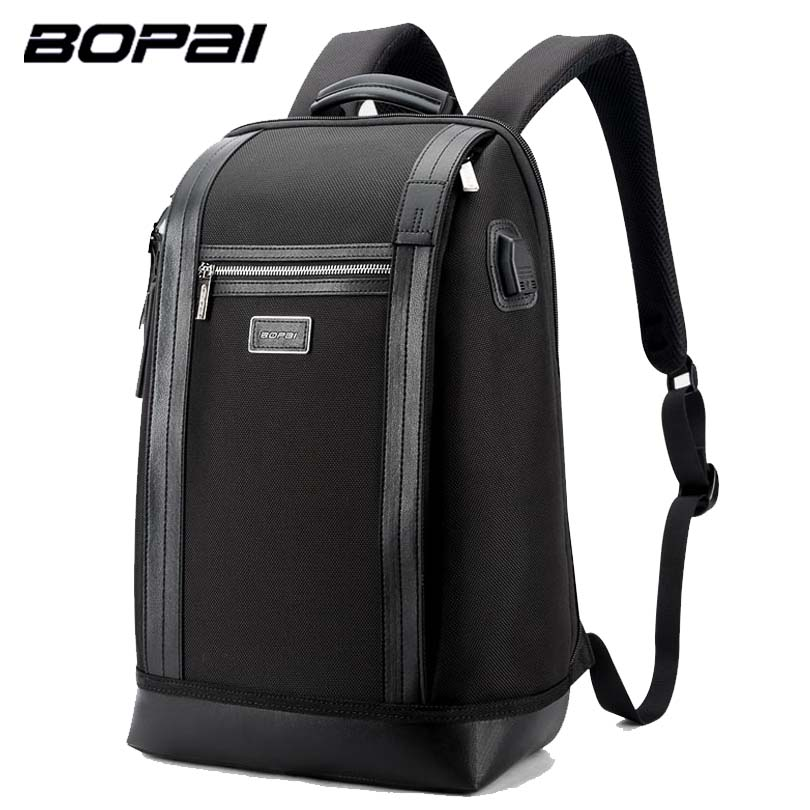 BOPAI Brand Men Backpack USB External Charge Backpack Computer Bag Shoulders Anti-theft Backpack 15 inch Waterproof Laptop Bags lowepro protactic 450 aw backpack rain professional slr for two cameras bag shoulder camera bag dslr 15 inch laptop