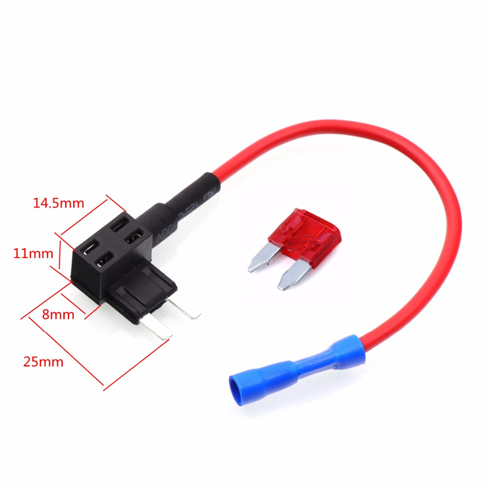 2pcs Car Automobile Beauty Fuse Box Blade Electric Appliance Holder Car Accessories Add Circuit with 2pcs car automobile beauty fuse box blade electric appliance fuse box add a circuit kit at soozxer.org