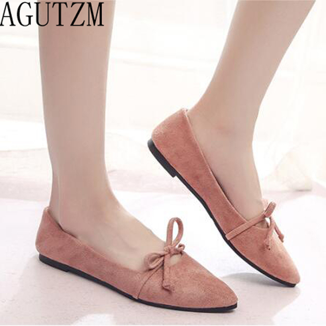 Brand 2018 Spring Autumn New Ladies Flat Shoes Casual Women Shoes Comfortable Pointed Toe Flat Shoes v700