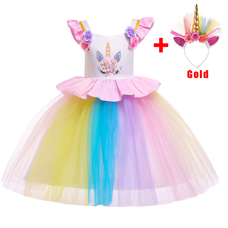 2019 silver gold hoop Easter   dress   costume children clothing baby costume   girl   first communion   dresses   little ladies   dress   L5090