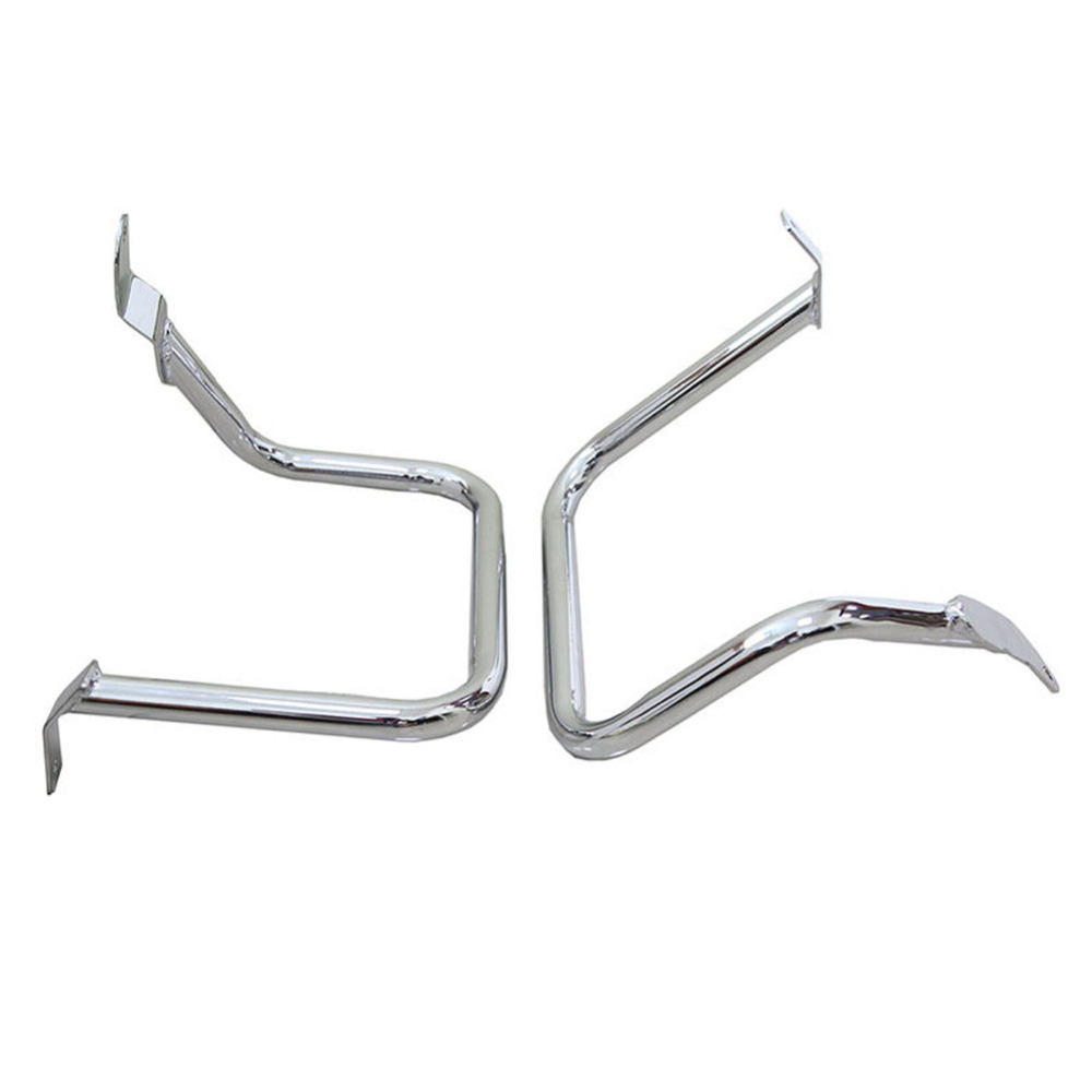 Chrome Motorcycle Rear Saddlebag Guard Rail Crash Bar for