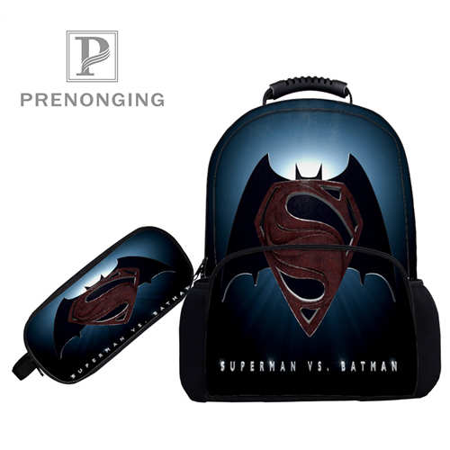 Custom 17inch Superman-vs-backpacks Pen Bags 3d Printing School Women Men Travel Bags Boys Girls Book Computers Bag#1031-3-48 Sale Overall Discount 50-70% Backpacks