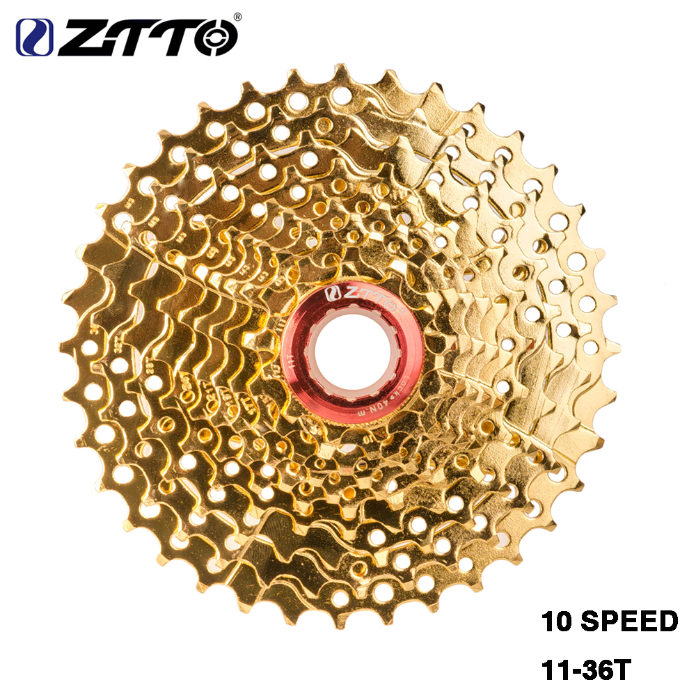 ZTTO MTB 10 Speed 10s Cassette 11-36 T Gold Golden Freewheel Flywheel for parts M610 XT M785 SLX M670 XTR M975 K7 NX GX ZTTO MTB 10 Speed 10s Cassette 11-36 T Gold Golden Freewheel Flywheel for parts M610 XT M785 SLX M670 XTR M975 K7 NX GX