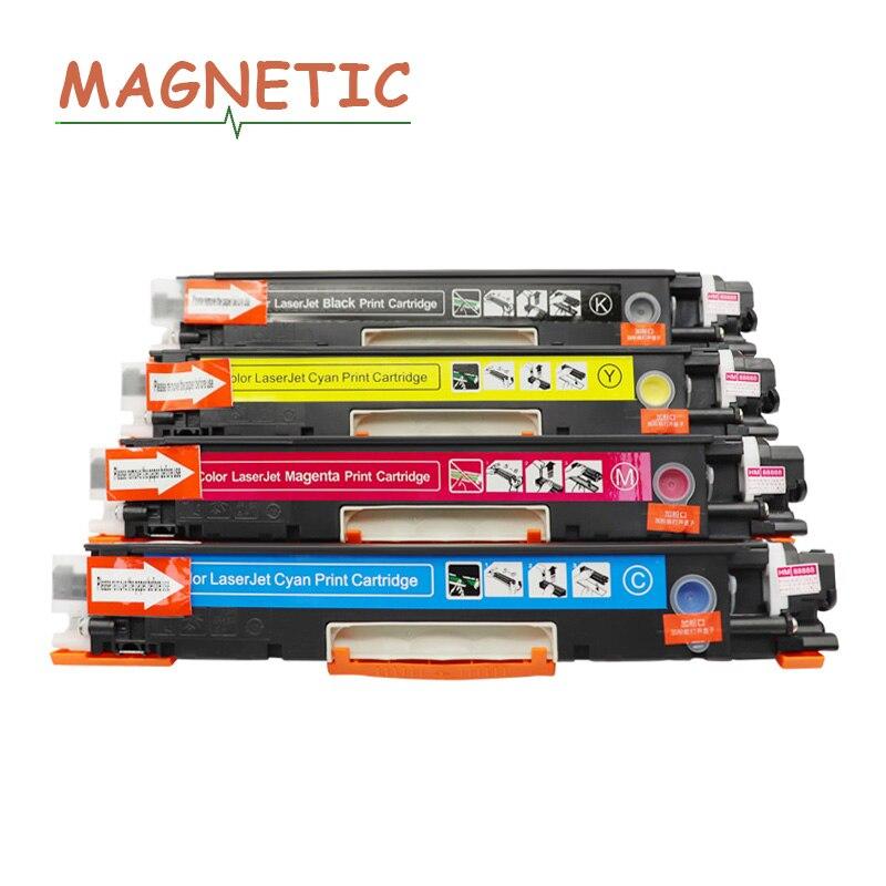 Cartouches de Toner magnétique pour HP CP1025 1020 1027 NW K/M/Y/C CE310A   4 pièces pour Canon LBP7018C cartouche de Toner 1028