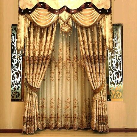 Mode brodé rideau de luxe de qualité de style chinois moderne ...