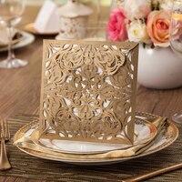 1pcs Sample Laser Cut Wedding Invitations Card Convite De Casamento Invitation Card Event Party Supplies Mariage