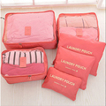 New 6pcs/set Women Men Travel Storage Bag Waterproof High Capacity Clothes Portable Organizer Case
