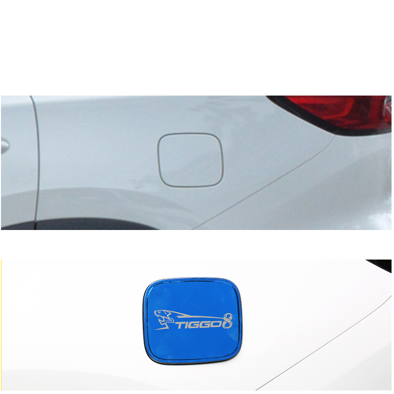lsrtw2017 stainless steel car fuel tank cover for chery tiggo 8 2018 2019 2020 in Interior Mouldings from Automobiles Motorcycles