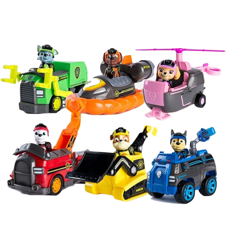 2019 Original Paw Patrol New Style Mission Paw Series Chase Marshall Rocky Rubble Zuma Skye Action Figure Children Toy Gift Hot