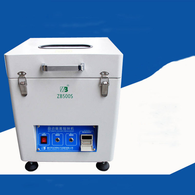 ZB500S Automatic Soldering Solder Paste Mixer, SMT Equipment, Tin Cream Mixer 500g-1000g For PCB Assembly