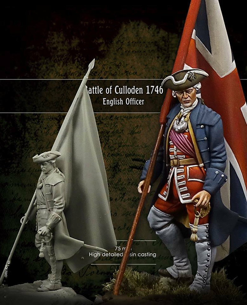 1/24 75MM Battle Of Culloden Officer Clansman 75MM   Toy Resin Model Miniature Resin Figure Unassembly Unpainted