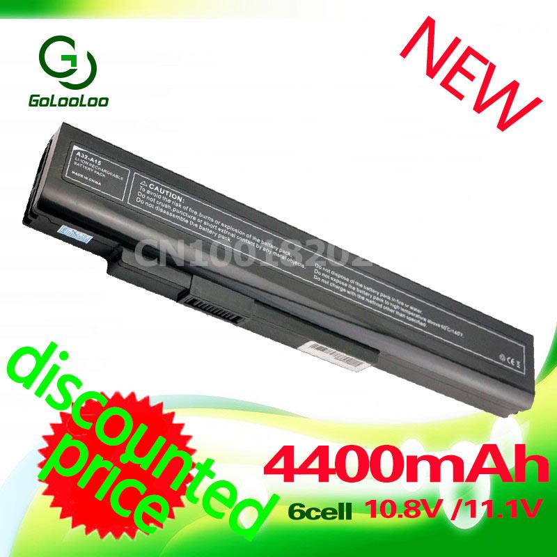 Golooloo Battery For Msi A32-A15 A41-A15 A42-A15 A6400 CX640(MS-16Y1) CR640 Gigabyte 142750 40036064 157296 Q2532N