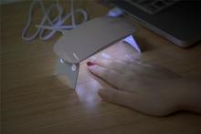 Sun mini Portable Nail Dryer 6W Nail Lamp 365+405nm White Light LED UV Lamp Support USB Charger Cure UV LED Nail Gel Machine
