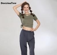 2019 summer flora women print t shirt sexy navel bare crop tops short sleeve fit o neck black tees badminton shirt