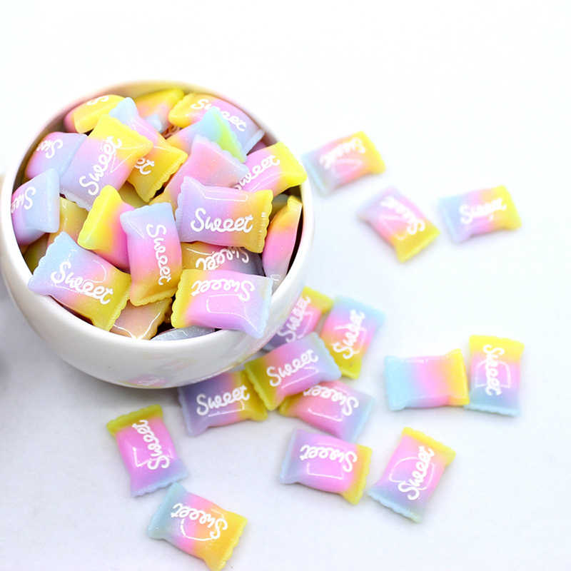 5pcs DIY Craft Toys Charms Rainbow Sweet Sugar Polymer Slime Box Toy For Children Modeling Clay DIY Mobile Case Handmade Decorat