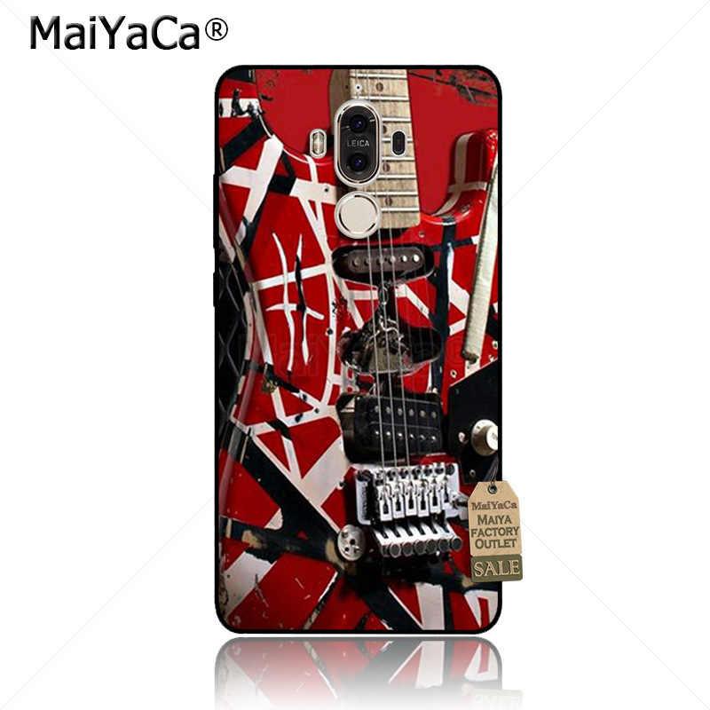 Maiyaca eddie van halenグラフィックギター電話アクセサリーケースhuawei社p20プロp9 p10プラスmate9 10ノベ3eケースcoque