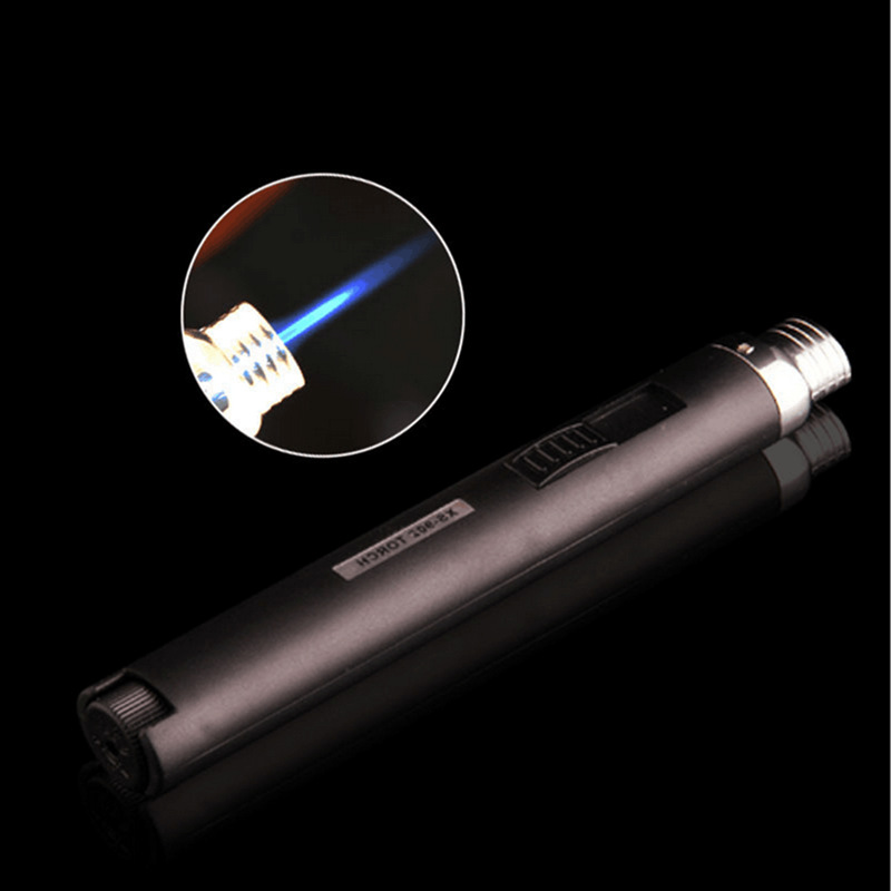 Windshield Pen Welding Torch Outdoor Lighter Jet Flame Butane Gas Refill Lighter Welding Soldering Torch Pen