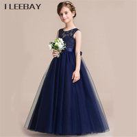 Quality Baby Girls Dress Evening Dress Prom Host Princess Long Dress Girl Lace Outerwear Infant Kids