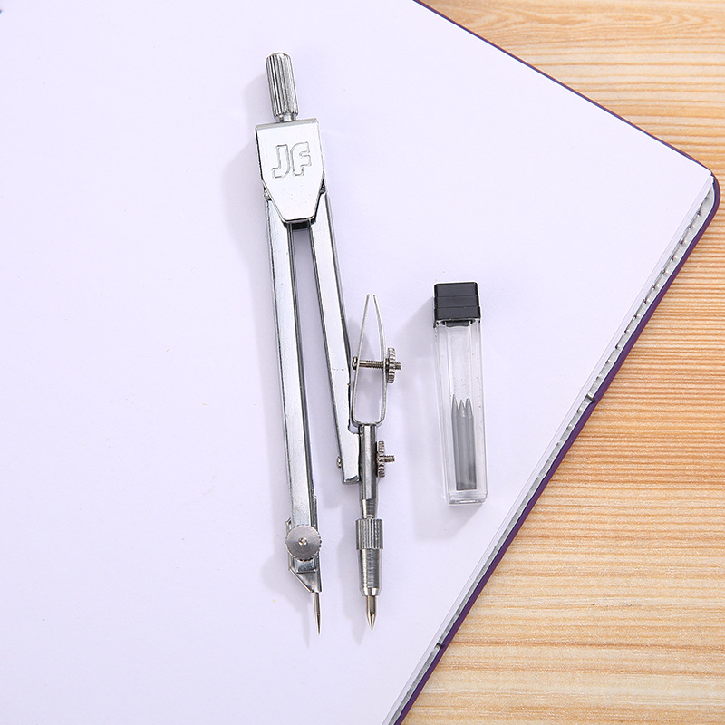 Deli Stainless Steel Drawing Compass Math Geometry Tools For Circles School Supplies For Student Stationery (Included Box)