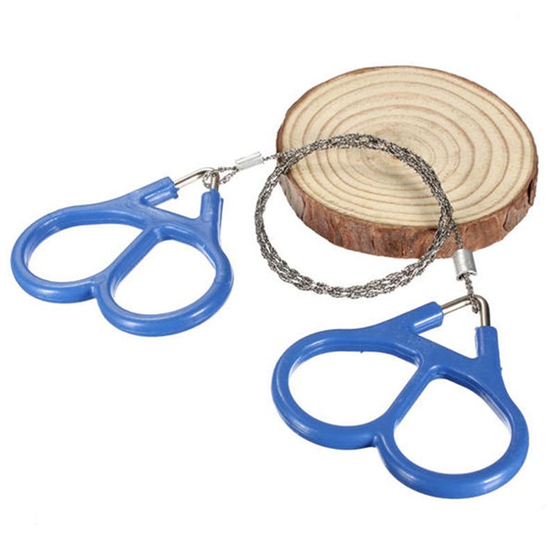 Emergency Survival Gear Outdoor Plastic Steel Wire Saw Ring Scroll Travel Camping Hiking Climbing Survival Tool