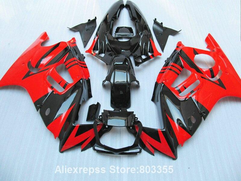 Комплект красный обтекатель для Honda ЦБ РФ 600 F3 1995 1996 cbr600 ( добавить стикер ) обтекатели 95 96 xl24