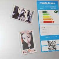 Magnetische Foto Rahmen Für Fujifilm Instax Mini 9 7s 8 25 50s 90 Film Kamera Zubehör Acryl Stick kühlschrank Bild Fall magneten