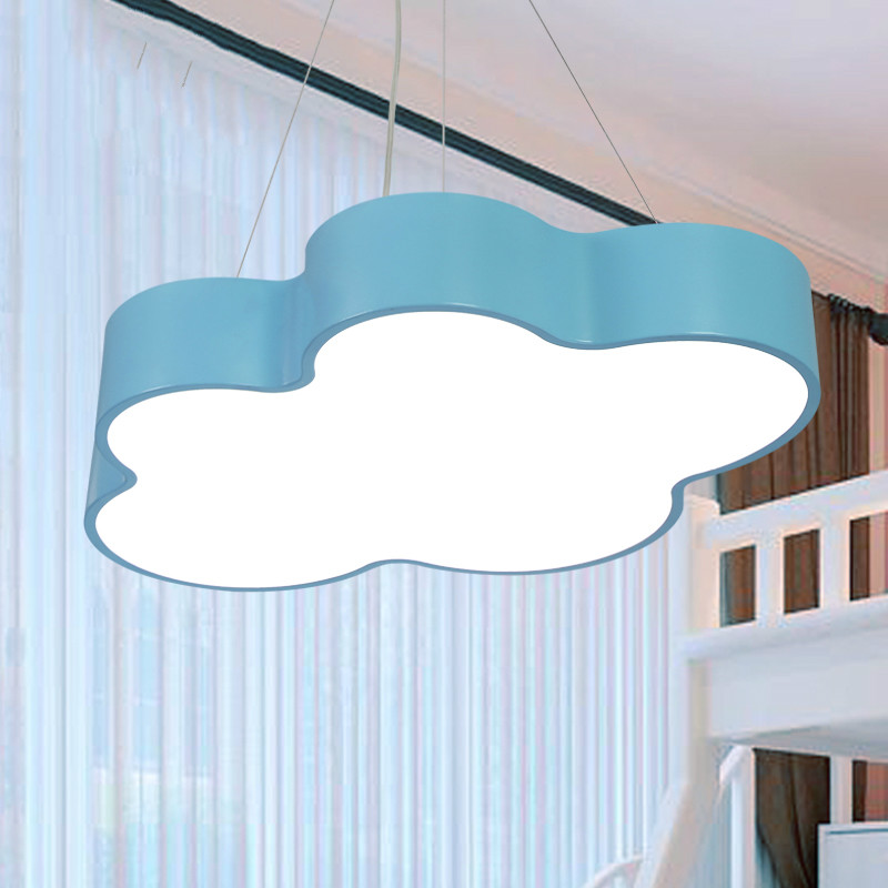Colorful Children Bedroom Pendant Lights LED Modern Simple Cloud Shape Lamps For kid's room Children's Hospital Hanging Light