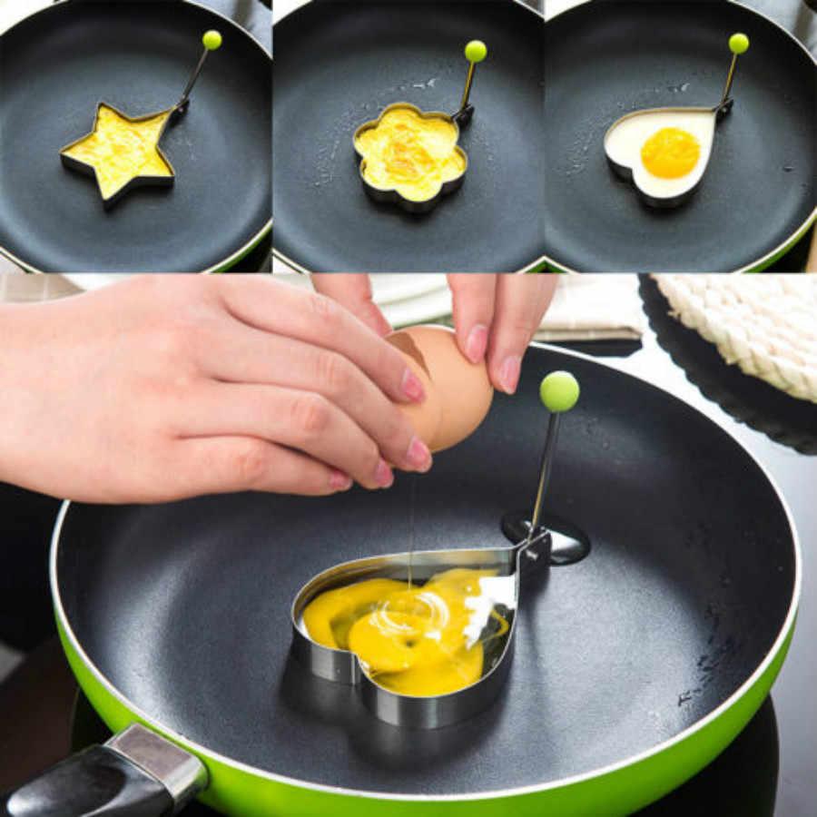Più nuovo Hot Uovo Fritto Pancake shaper Acciaio inox Shaper Della Muffa Della Muffa Cucina Anelli Del Cuore