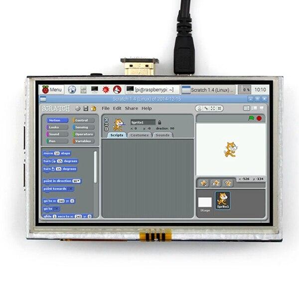 5 pouces LCD HDMI écran tactile écran TFT LCD panneau Module 800*480 pour banane Pi framboise Pi 4B framboise Pi 3 modèle B / B +