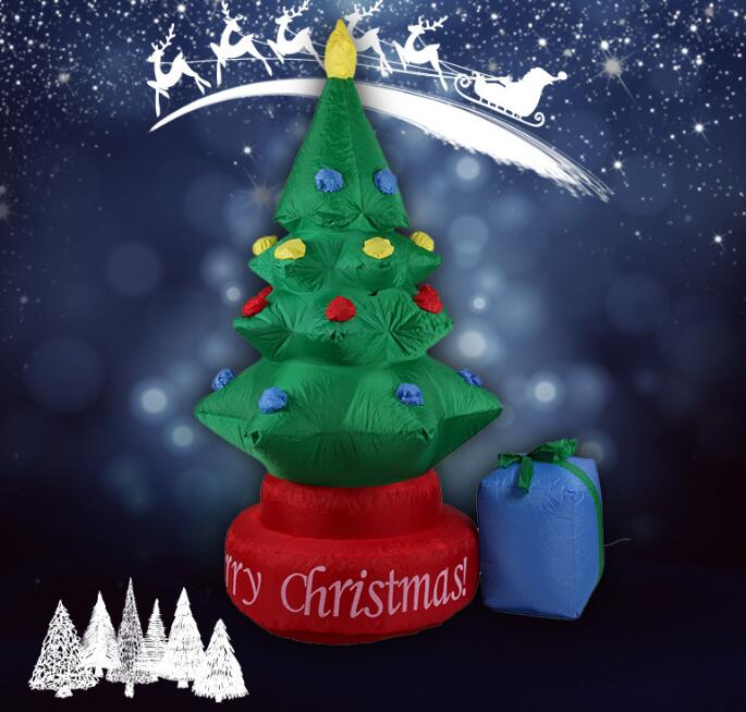 2017 Vioslite 2.1M Inflatable Christmas Tree with Bag in High Quality for Festival Decoration 5m high big inflatable christmas santa claus climbing wall decoration 16ft high china factory direct sale festival toy