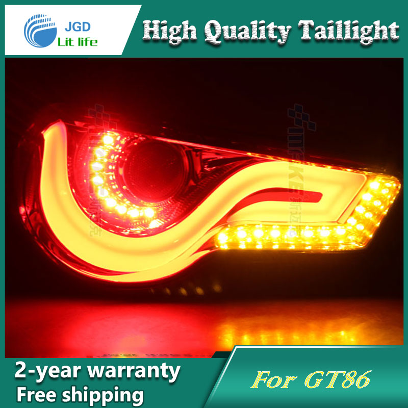 Car LED Tail Light Parking Brake Rear Bumper Reflector Lamp for Toyota GT86 Red Fog Stop Lights Car styling 1 piece rh rear bumper light fog lamp light for toyota landcruiser prado fj90 1997 1999