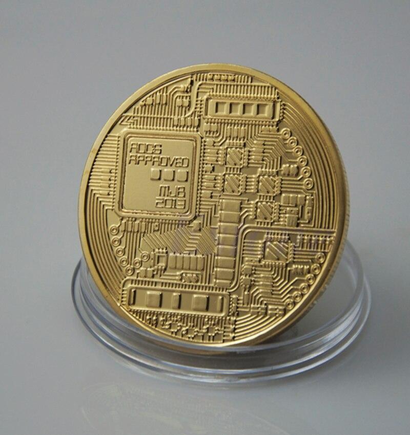 1 x ոսկու plated Bitcoin Մետաղադրամ Հավաքածու - Տնային դեկոր - Լուսանկար 5