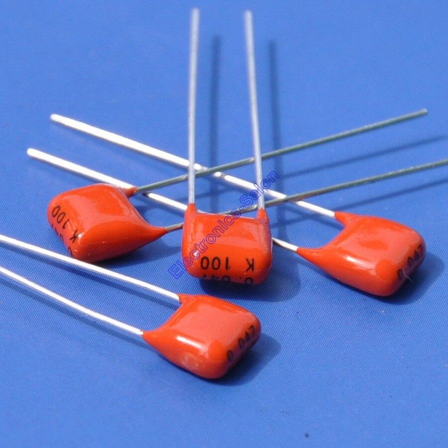 ( 1000 pcslot ) 47nF 100V MKT Metallized Polyester Film Capacitor, 0.047uF.