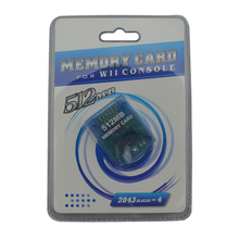 100pcs wholesale 512MB Memory Storage Card Saver for Nintendo for Wii for GameCube Xmas Gift